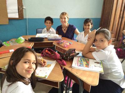 Children at their desks