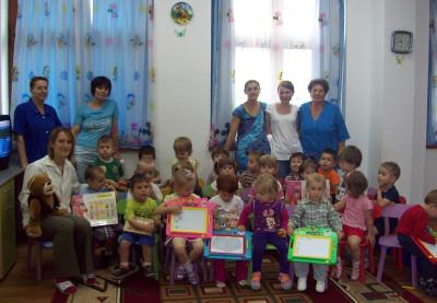 Staff and children