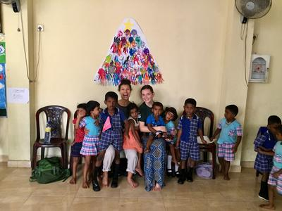 Care volunteers at their placement in Sri Lanka