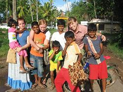With Children at the Tsunami Camp