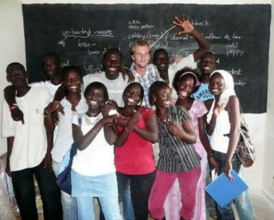Me with my Terminale class
