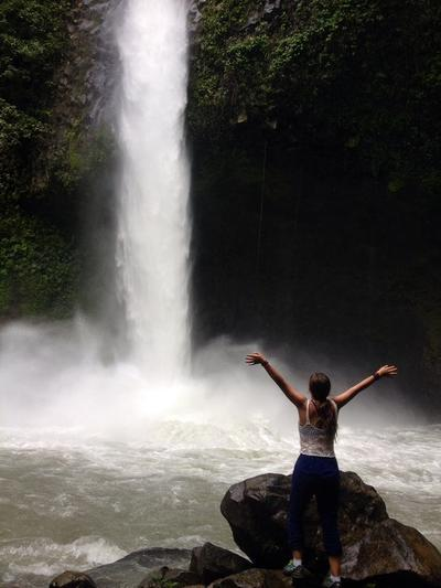 Exploring waterfalls in Costa Rica