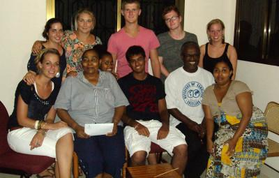 Volunteer's at a host family in Tanzania