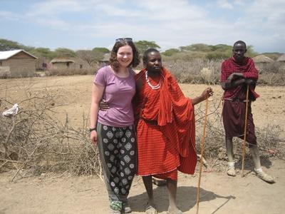 Volunteer in the Maasai village