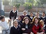 With fellow volunteer and some of my class