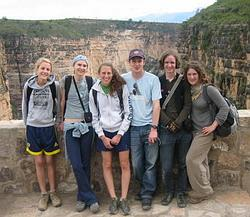 With other volunteers at Torotora National Park