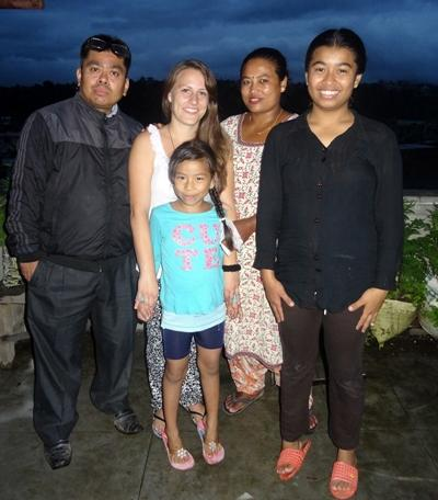 Zoe and her host family