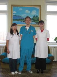 With my medical supervisors