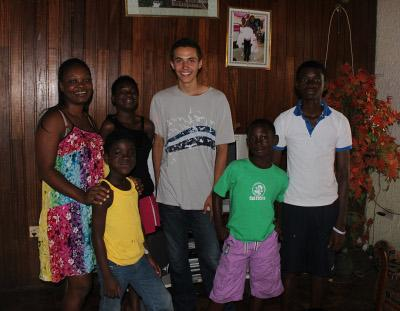 Host family in Ghana