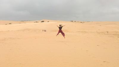 Volunteer having fun during her free time