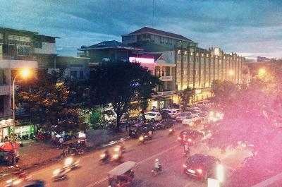 The night life in Cambodia