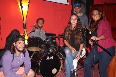 Social night out to see the band casi libro performing at iguana rock bar