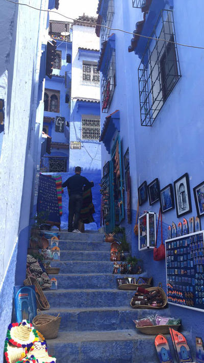 Blue walls in the city of Chefchaouen