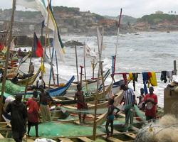 Fishing boats cape coast