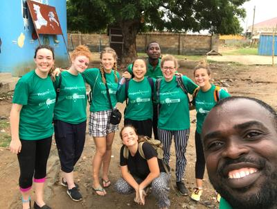 Local staff and volunteers in Ghana