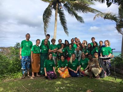 Shark Conservation volunteers in Fiji