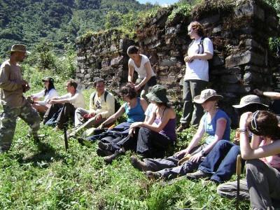 On hike to inca ruins
