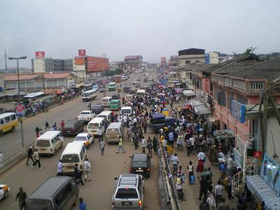 Shopping area in Accra