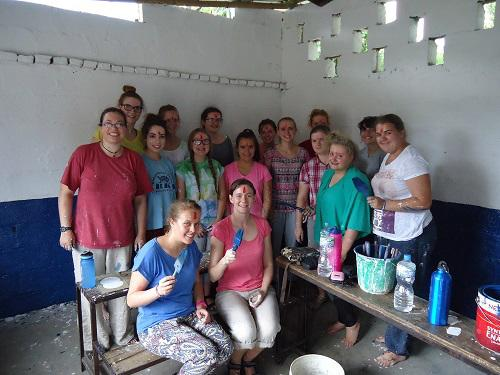 Girl guides painting school