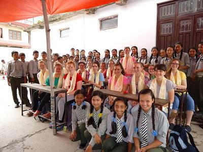 Volunteers at Zing school