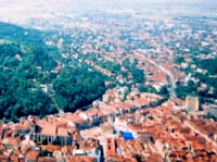 The view over Brasov from Mount Tampa
