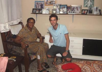 With Nelly, my host mother