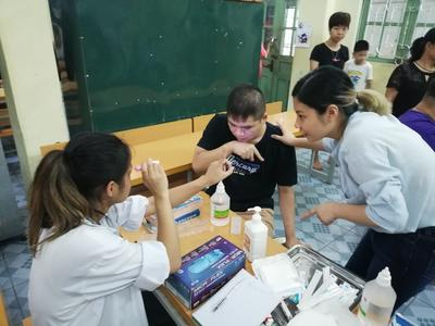 Interns conduct health checks at their Medicine placement