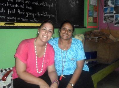 With local teacher