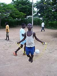 Enoch, an orphan, skipping