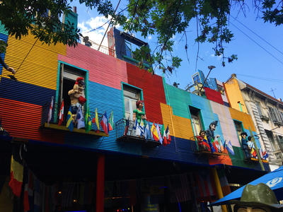 The colourful houses in Argentina