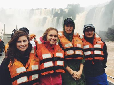 Volunteers exploring the sites in Argentina
