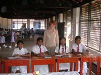 With students at the school