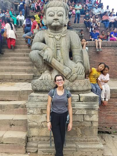 Barbara exploring Nepal