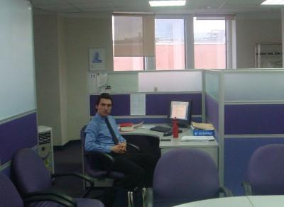 At work in the office