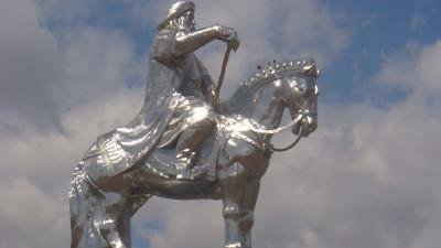 Huge statue of Genghis Khan