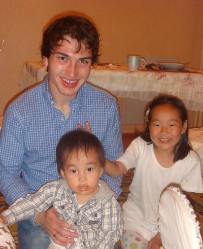 With the children in my host family