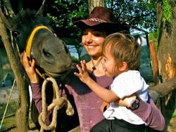 Me, child and horse