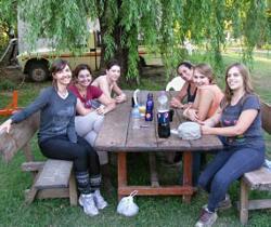 Volunteers lunch