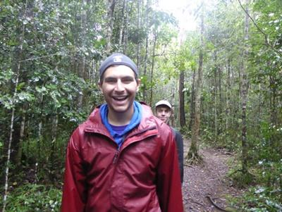 Volunteers on a hike during their Conservation project