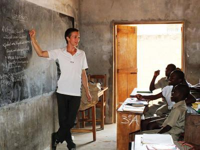 Teaching children in Togo
