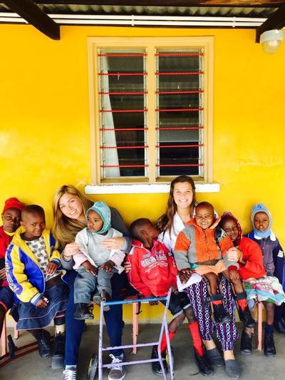 Care volunteers with the children in Kenya
