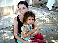 With Celeste at the orphanage