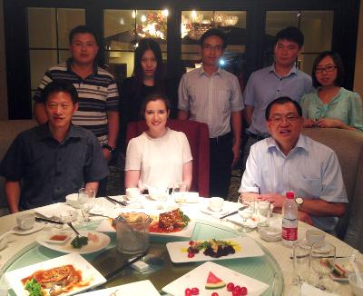 Dinner with the team in China