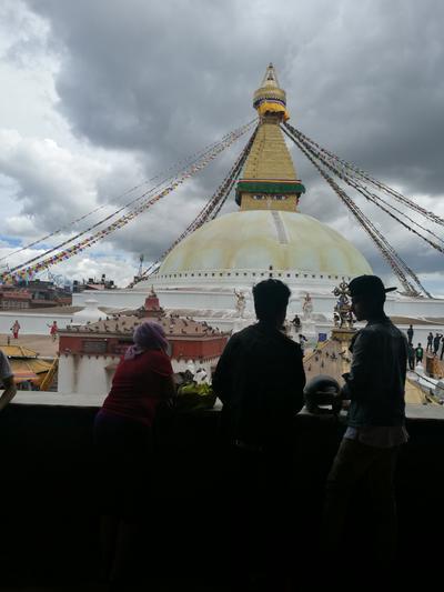 Volunteers sightseeing in Nepal