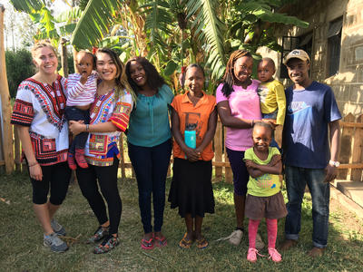 Volunteers and local staff in Kenya