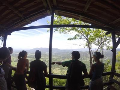 On a lookout deck in Costa Rica
