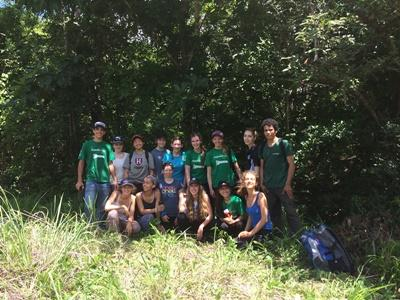 Volunteers during their Conservation placement
