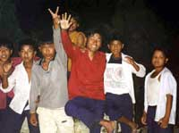Children saluting