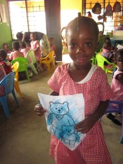 Child with drawing