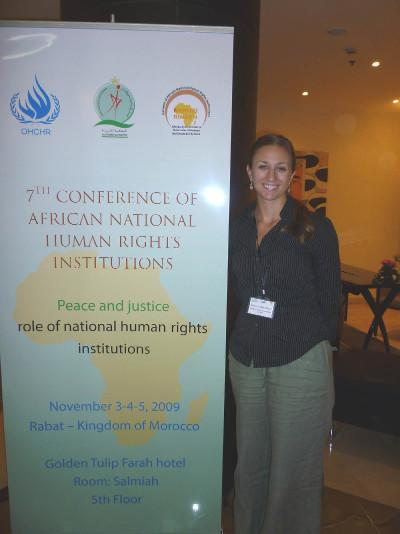 Volunteer Claire Been at a Human Rights Conference in Africa